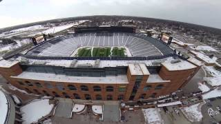 Michigan Stadium via Quad Rotor