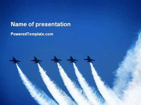 Aviation parade powerpoint template by poweredtemplate youtube aviation parade powerpoint template by poweredtemplate toneelgroepblik Images