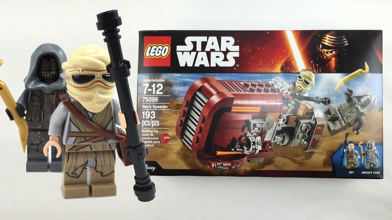 Lego Star Wars The Force Awakens Reys Speeder Review 75099 Youtube