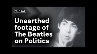 Unearthed footage of the Beatles on ITN's 1964 election programme