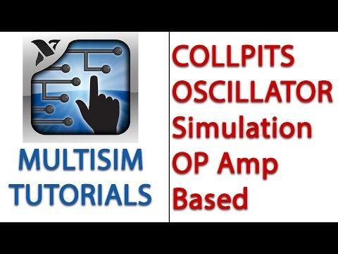 Colpitts Oscillator ( OP AMP ) Simulation | MULTISIM |