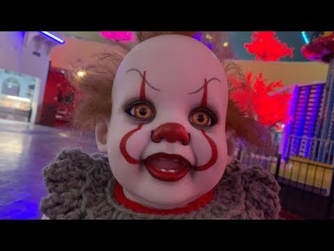 Baby Pennywise goes to Funplex and doesn't have any fun!