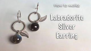 Labradorite silver earring | Jewelry DIY | Handmade Jewelry …
