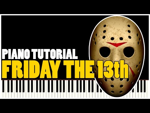 Friday The 13th - Theme (Piano Tutorial Synthesia)