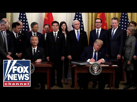 Trump signs 'phase one' of China trade deal