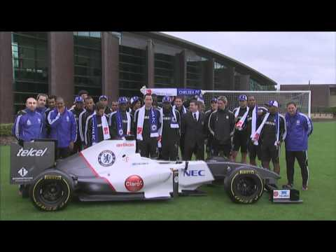 Presentation at Chelsea FC's Cobham training ground - Sauber F1 Team