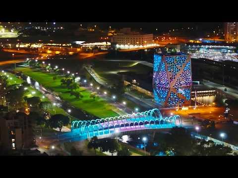 Córdoba De Noche - Vista Desde El Drone De Un Guaso