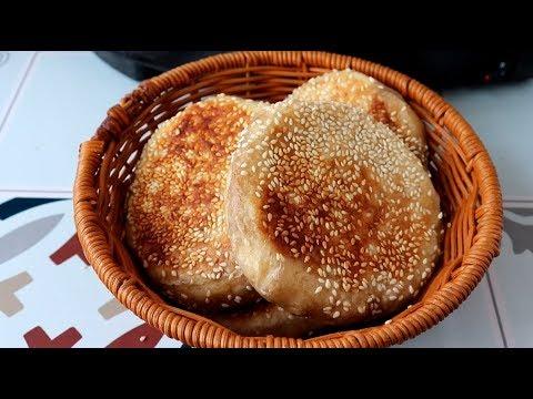 教你在家做麻醬燒餅。香酥爽口。越吃越想吃。做法超簡單 - YouTube