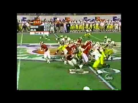 2000 Orange Bowl - #8 Michigan vs. #5 Alabama Highlights