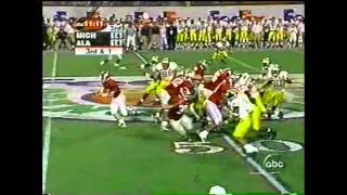2000 Orange Bowl - #8 Michigan vs. #5 Alabama Highlights