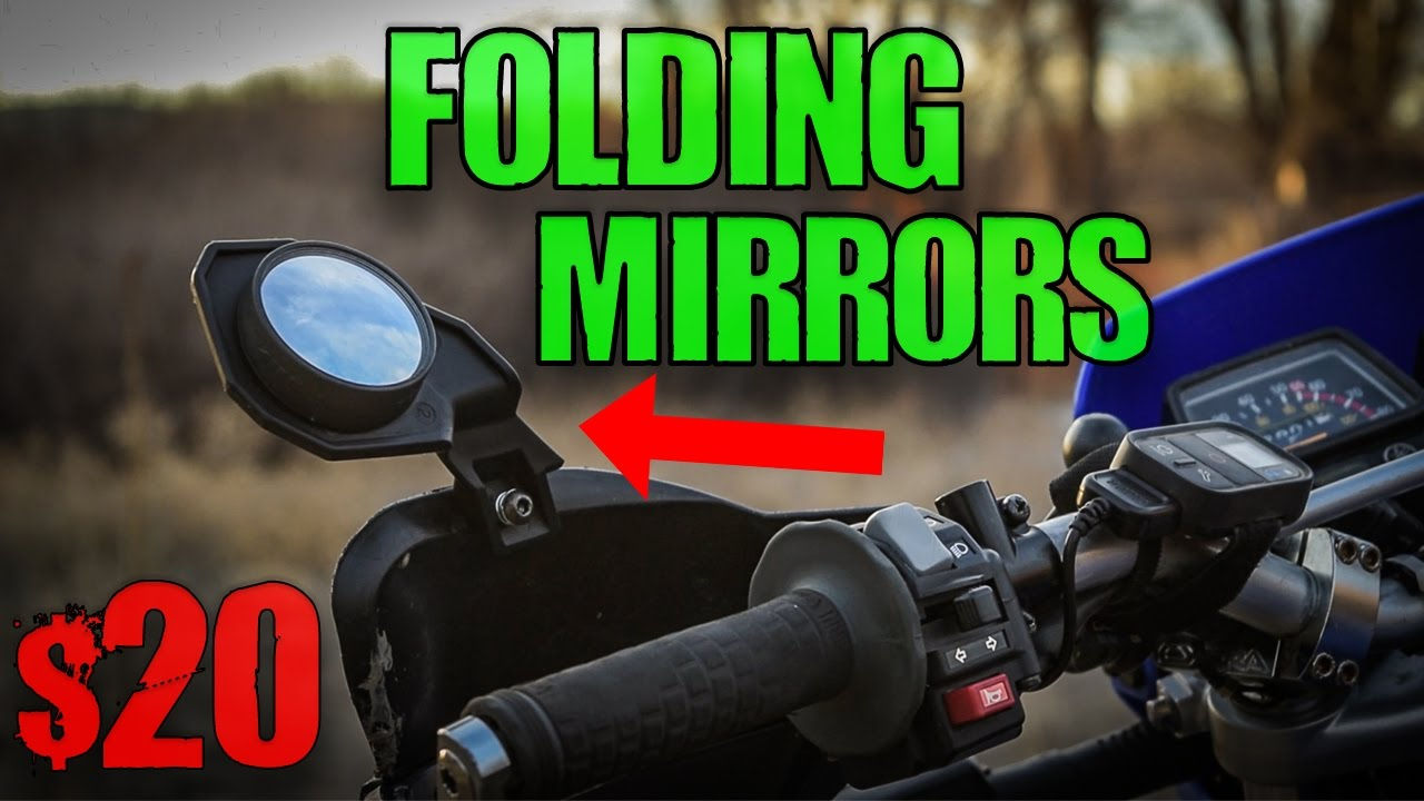 folding DualSport mirrors (only $20)