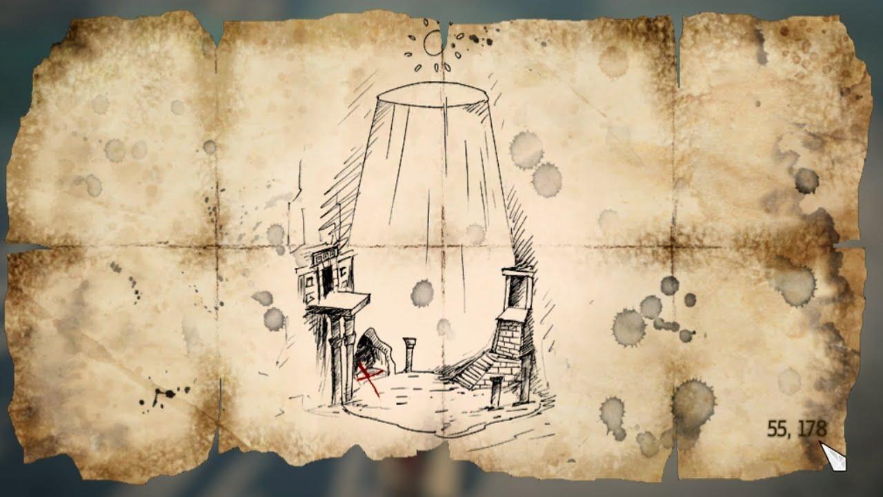 Assassins Creed Iv Black Flag Treasure Map 55 178 Youtube