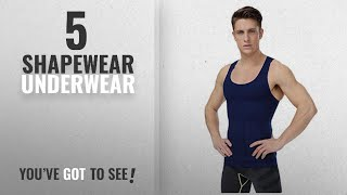 Top 10 Shapewear Underwear [2018]: HANERDUN Mens Seamless Body Shaper Compression Vest Elastic Slim