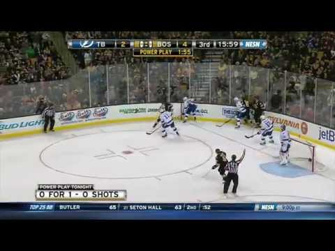Zdeno Chara drops Cedric Paquette with a jab 1/13/15 60fps