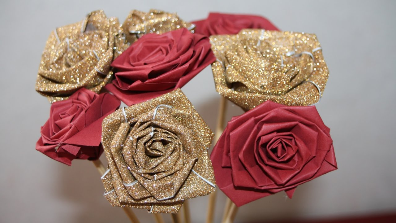 Diy comment faire des roses en papier facile youtube - Faire des roses en papier ...