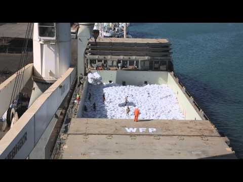Port Of Djibouti: Loading A WFP Ship With 5,000 Metric Tons Of Food