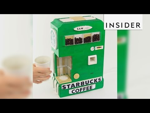YouTuber builds vending machines out of Lego blocks