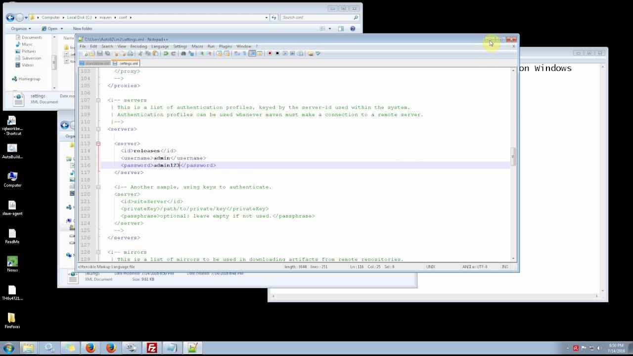 How to deploy to the Internal Maven Repository on Windows #01