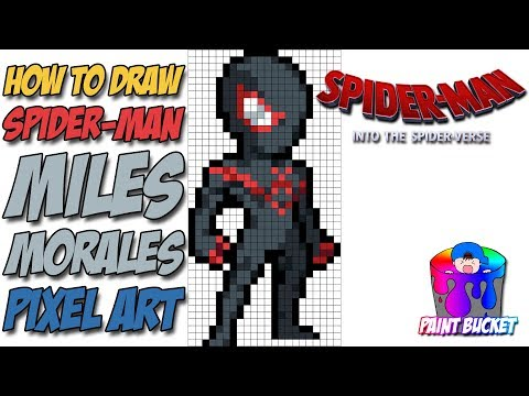 how-to-draw-miles-morales-spider-man---into-the-spider-verse-pixel-art-drawing-tutorial-step-by-step