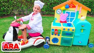 طفل فلاد مسرحية لعبة مقهى على عجلات