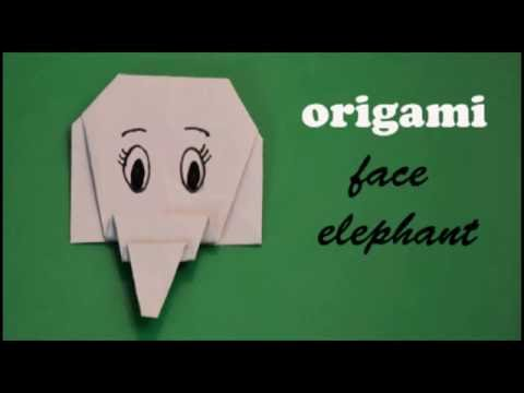 Origami-easy elephant face | Animals | How to fold an easy origami elephant face (origami for KIDS)