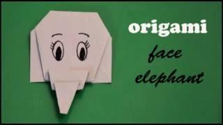 Origami-easy elephant face | Animals | How to fold an easy origami elephant face (origami for KIDS)