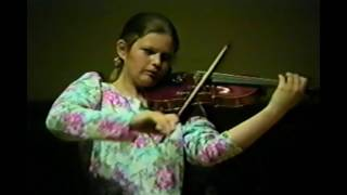 13 Year-Old Prodigy Janine Jansen Performs Brahms Violin Sonata No.3 in D Minor