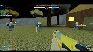 NERF FPS WORLD OF NERF GUNS ROBLOX TRY TO SURVIVE IN THIS!