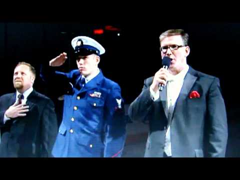 Chicago Blackhawks National Anthem with Jim Cornelison, Frank Pellico & Gene Honda
