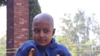 An Afghani girl cancer patient at Shaukat Khanum Cancer Hospital