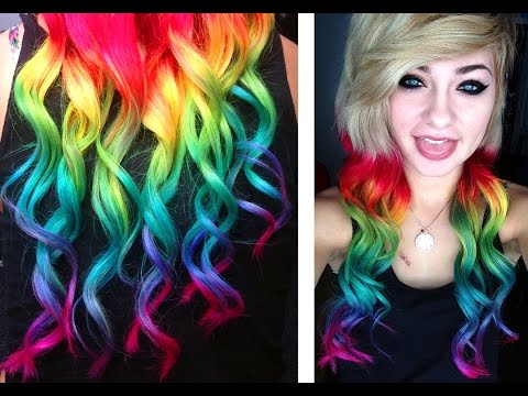 Dying my Hair RAINBOW | HeyThereImShannon