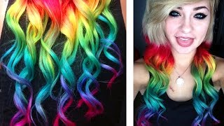 One of HeyThereImShannon's most viewed videos: Dying my Hair RAINBOW | HeyThereImShannon