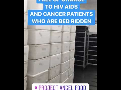 China Chow takes a look inside Project Angel Food's freezers