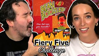 Irish People Try The Fiery Five Challenge (Spicy Beanboozled!)