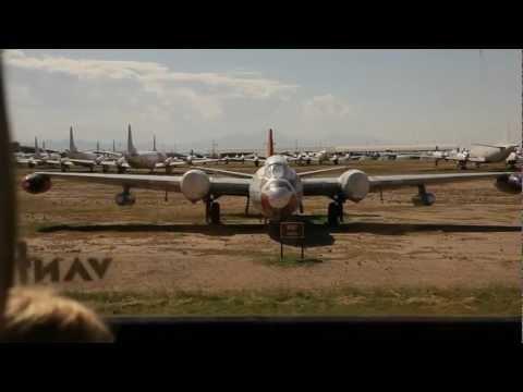 309th AMARG Aerospace Maintenance and Regeneration Center, The Boneyard, Tucson tour pt 1 1080HD
