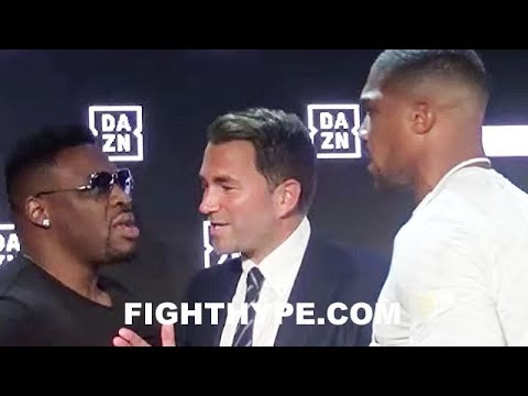 DAAAMN! ANTHONY JOSHUA ERUPTS ON JARRELL MILLER; NEAR BRAWL AS HEATED WORDS ARE EXCHANGED