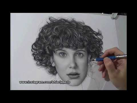 """Realism Portrait Drawing Of Millie Bobby Brown """"ELEVEN"""""""