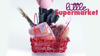 Shopping Baskets & Groceries : Polymer Clay Tutorial : 1/12th Scale Miniature
