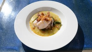 Italian Food Recipes. Calamari Squid on Velvety Cream of Flavoured Potatoes