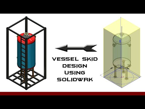 Skid design- primary structure design using solidwork