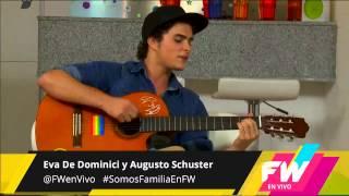 Augusto Schuster cantando en @FWenVivo