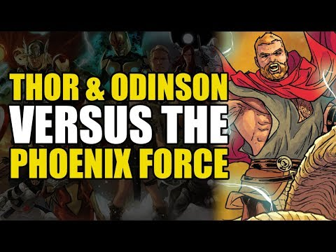 Thor & Unworthy Thor fight the Phoenix Force (Marvel NOW 2.0 Mighty Thor: Asgard Shi