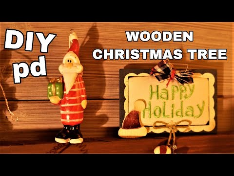 Wooden Christmas Tree | DIY Decor Ideas