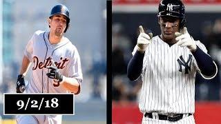 Detroit Tigers vs New York Yankees Highlights    September 2, 2018