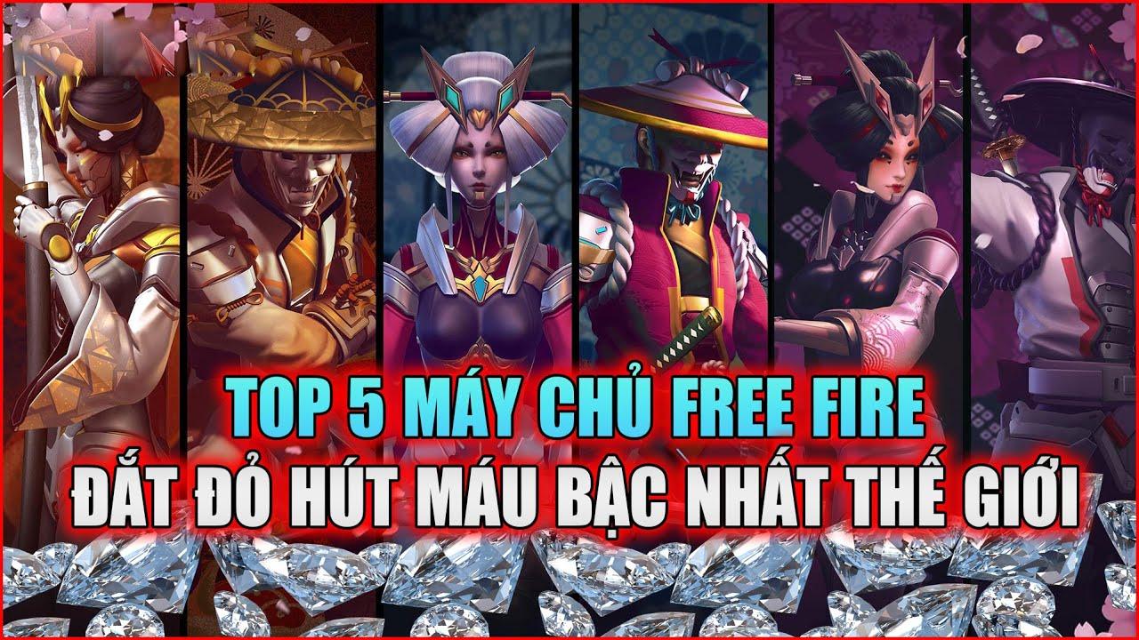 Free Fire | TOP 5 Máy Chủ Free Fire Đắt Đỏ Hút Máu Tốn Tiền Bậc Nhất Thế Giới | Rikaki Gaming