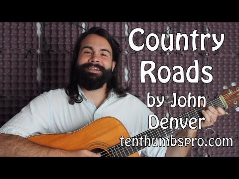 Country Roads - Easy Beginner Guitar Tutorial - John Denver