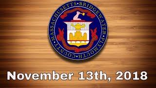 Bridgewater Town Council - Nov. 13th, 2018