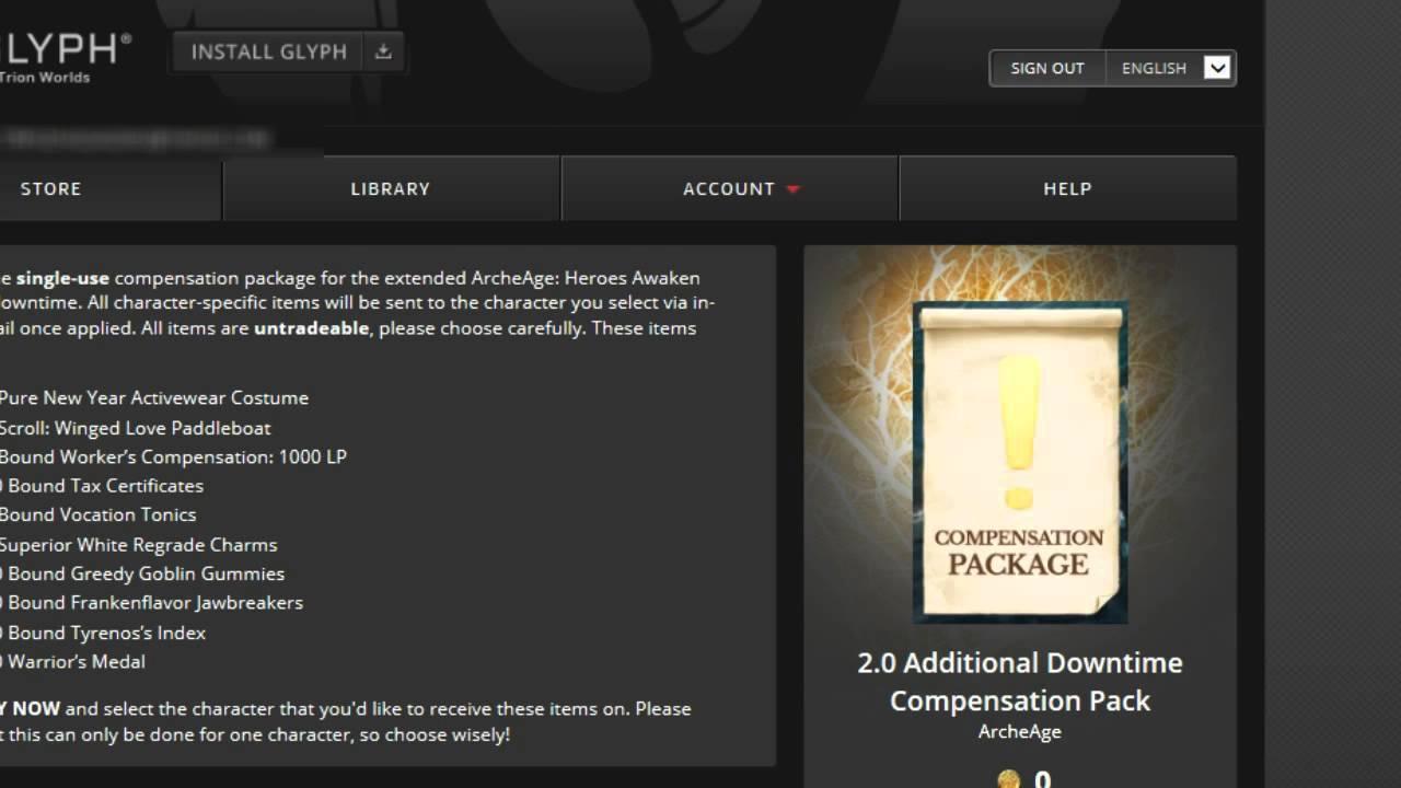 archeage huge compensation package for downtime archeage huge compensation package for 2 0 downtime