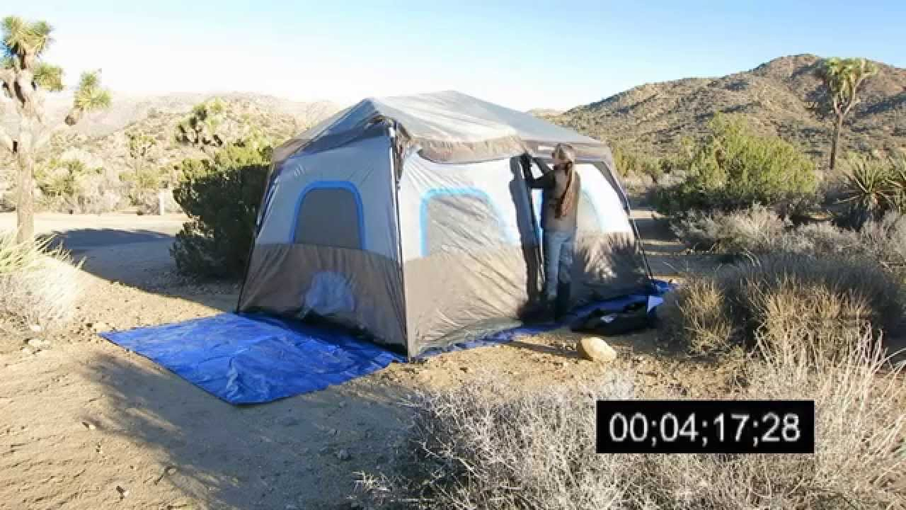 & Ozark Trail 14u0027 x 10u0027 Instant Cabin Tent Set Up - YouTube