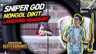 GAK NYANGKA !!! KEPALA NONGOL DIKIT LANGSUNG HEADSHOT PAKE AWM !!! - PUBG MOBILE INDONESIA